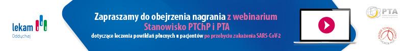 Zapraszamy do obejrzenia stanowiska PTCP i PTA dotyczącego leczenia powikłań płucnych po przebyciu zakażenia SARS-CoV-2